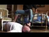 STR8 LATINO MASTER AND SLAVE gay feet trampling domination